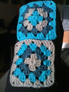 First 2 granny squares