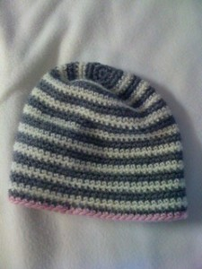 Striped beanie - adult size