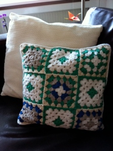 My first crocheted cushion!