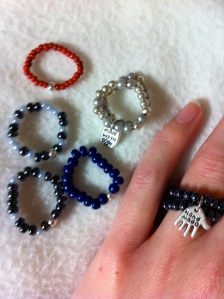 Bead ring - elastic - single € 5,- double € 6,50