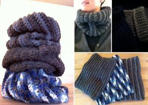 Tube scarfs - various types