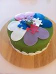 Green marzipan cake!
